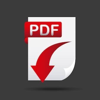 Flèche télécharger l'icône du fichier
