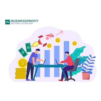 Flèche vers le haut des entreprises de croissance, augmentation des revenus de l'entreprise