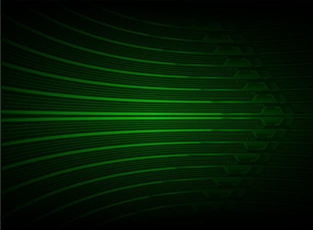 Flèche verte cyber fond de technologie future