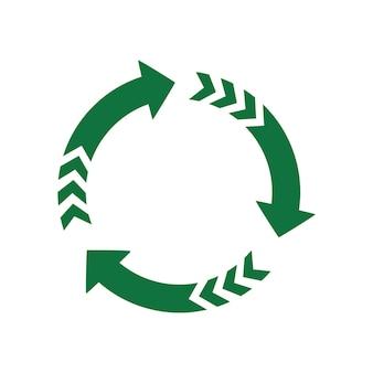Flèche verte, symbole de recyclage des fonds écologiquement purs
