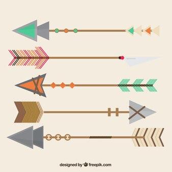 Flèches antiques géométriques avec des styles différents