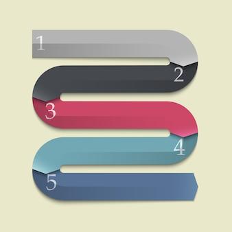 Flèches de bannières à la mode pour infographie