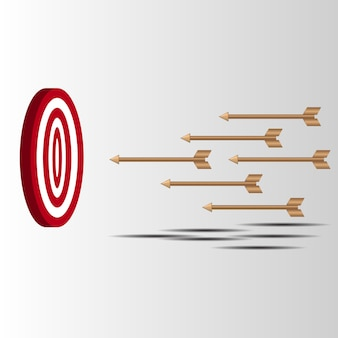 Les flèches de la cible ont raté leur tentative de toucher une cible