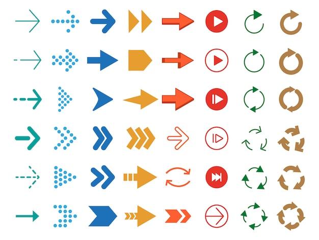 Flèches de couleur modernes.