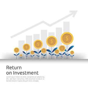 Les flèches de croissance des entreprises à la réussite augmentent les bénéfices.