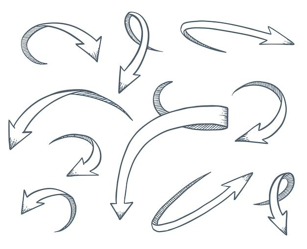 Les flèches définissent le style de dessin.