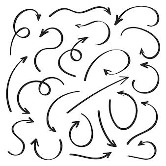 Flèches dessinées à la main super définies