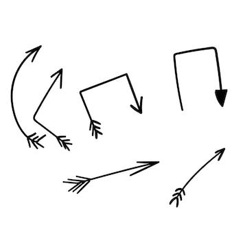 Flèches handdraw ensemble doodle