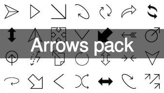 Flèches icônes pack