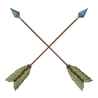 Flèches indiennes croisées.