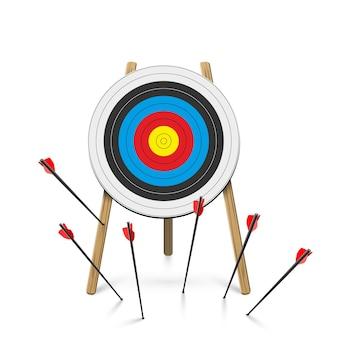 Les flèches ont manqué la cible le défi a échoué la métaphore des tentatives inexactes