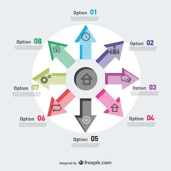Flèches pointant vecteur infographie