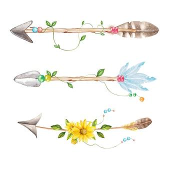 Flèches style boho
