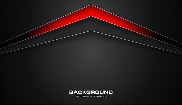 Flèches de technologie abstraites couleur rouge et noir vector background