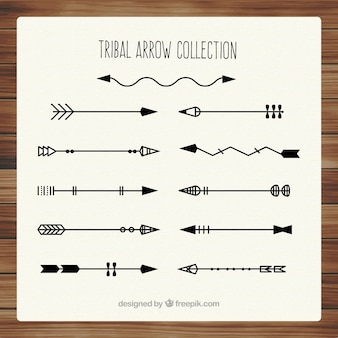 Flèches tribales noires