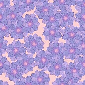 Fleur d'anémone bleu pastel façonne le modèle sans couture. imprimé botanique floral aléatoire. couleurs pastel. illustration vectorielle pour les impressions textiles saisonnières, les tissus, les bannières, les arrière-plans et les fonds d'écran.