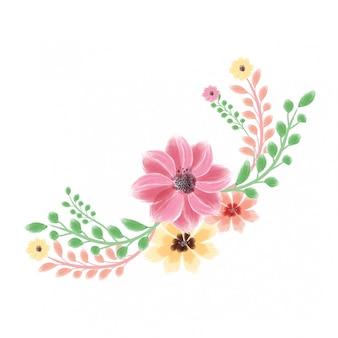 Fleur aquarelle créative de vecteur bouquet carte occasion spéciale