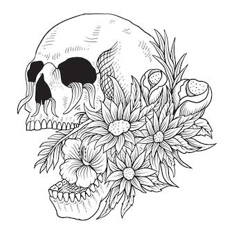 Fleur de crâne isolé
