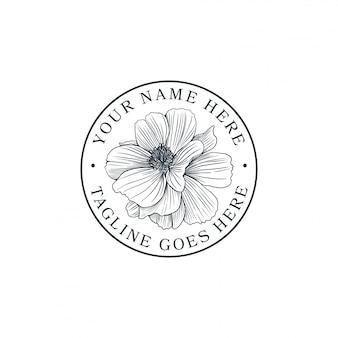 Fleur dessinée à la main