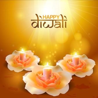 Fleur de diwali avec couleur de beauté