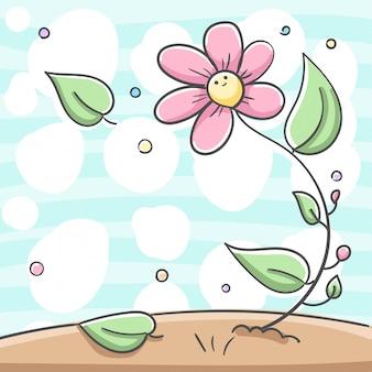 Fleur et feuilles