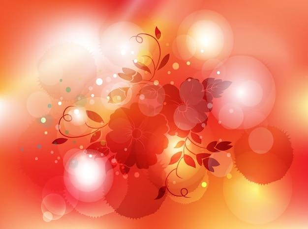Fleur foncé avec des reflets rouges