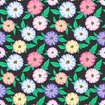 Fleur de fond sans couture.