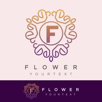 Fleur initiale lettre f création de logo