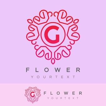 Fleur initiale lettre g création de logo