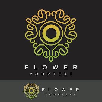 Fleur initiale lettre o logo design