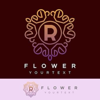 Fleur initiale lettre r création de logo