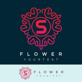 Fleur initiale lettre s logo design