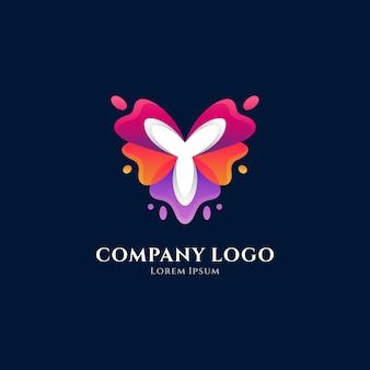Fleur lettre y logo dégradé coloré