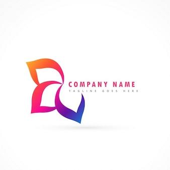 Fleur logo modèle de conception