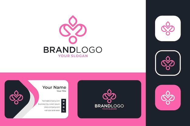 Fleur de lotus élégante pour la conception de logo de spa et de yoga et carte de visite