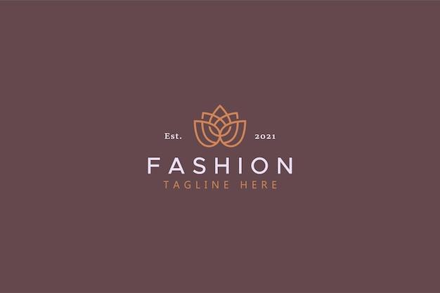 Fleur de lotus pour le logo d'entreprise de mode