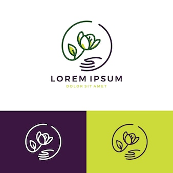 Fleur main soins magasin magasin vente logo