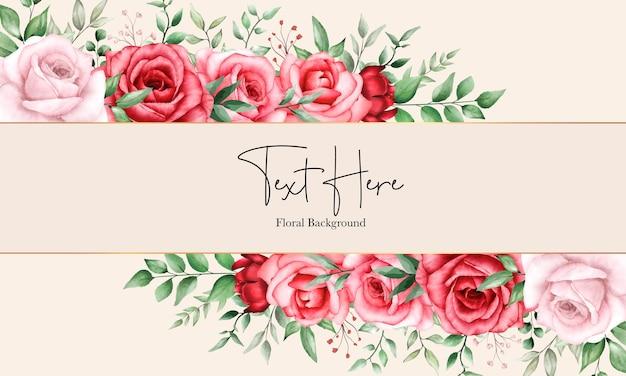 Fleur marron fond floral romantique