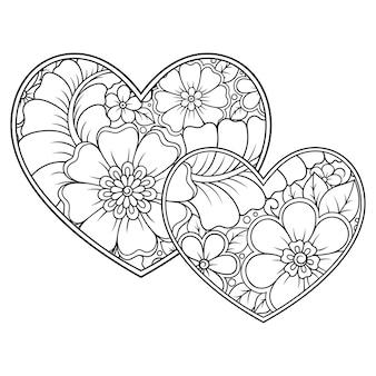 Fleur de mehndi en coeur.