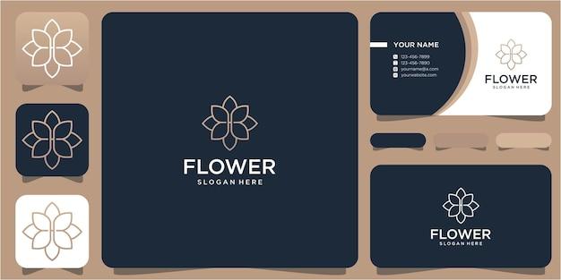 Fleur et meubles de conception de logo