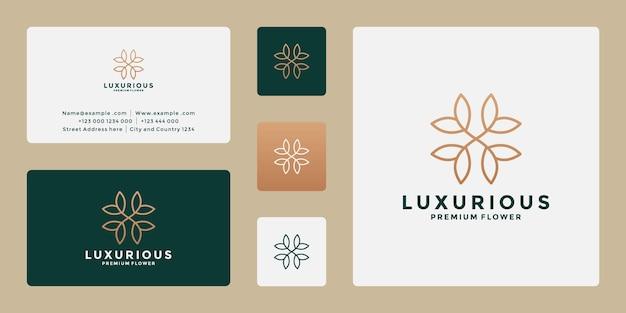 Fleur minimaliste, conception de logo de lotus pour votre mode, spa, station balnéaire