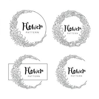 Fleur motif cercle
