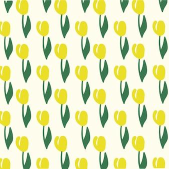 Fleur motif fond médias sociaux post illustration vectorielle