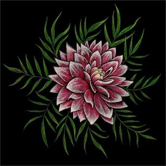 Fleur De Pivoines, Illustration Dessinée à La Main Vecteur Premium