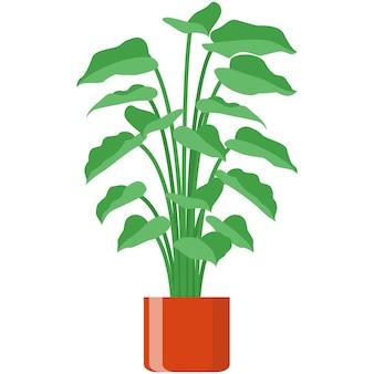 Fleur en pot vecteur plante pot de fleurs illustration isolé
