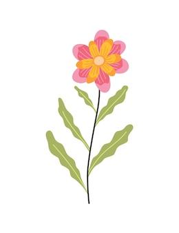 Fleur de printemps. conception d'icône floral botanique. plante de jardin sur fond blanc. illustration vectorielle plane colorée. bonne décoration pour faire-part de mariage ou scrapbook