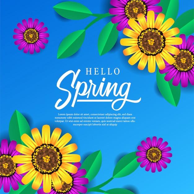 Fleur de printemps féminin