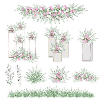 Fleur réaliste pour la décoration de mariage et fête.