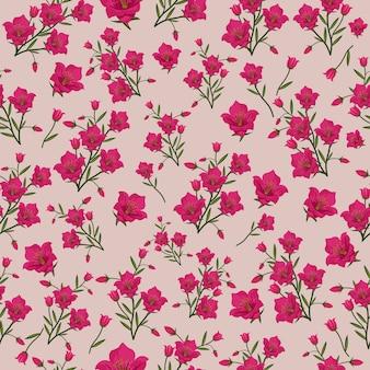 Fleur rose modèle sans couture