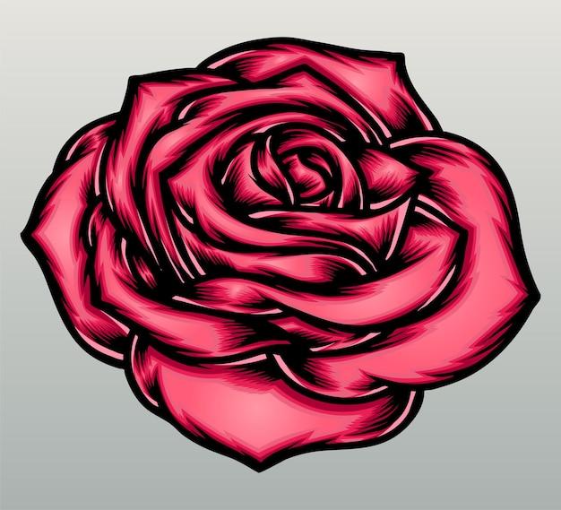 Fleur rose rose.